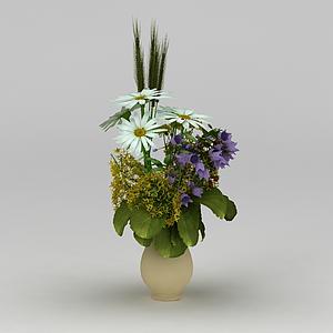 3d仿真裝飾花卉模型