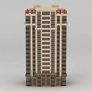 3d高層<font class='myIsRed'>樓房</font>模型
