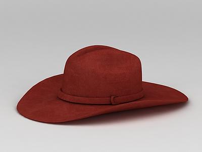 3d<font class='myIsRed'>紅色</font>帽子免費模型
