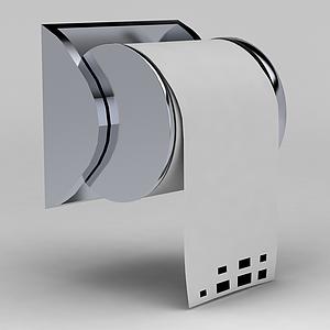 廁所卷紙器模型