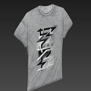 男子T恤衣服模型