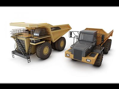 翻斗車模型3d模型