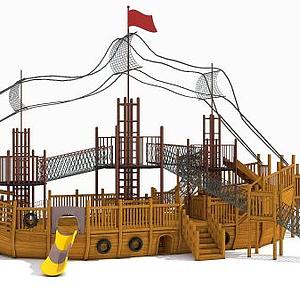海盜船游樂設備模型