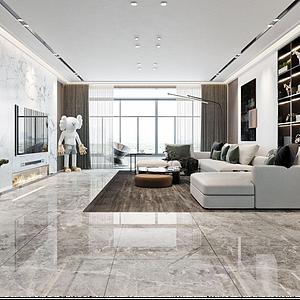 现代简约风格客厅模型