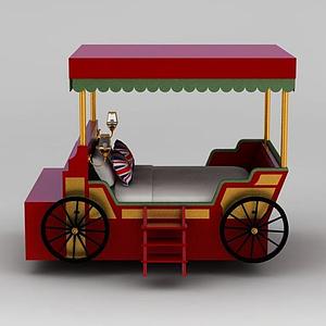 3d古典汽車<font class='myIsRed'>兒童床</font>模型