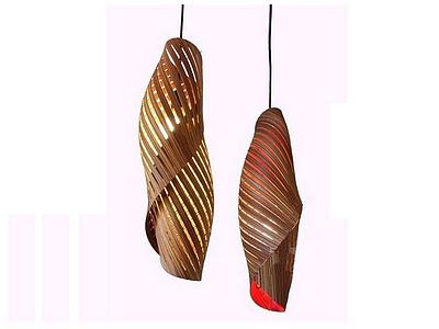 3d創意木制吊燈模型