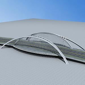 3d現代大橋模型