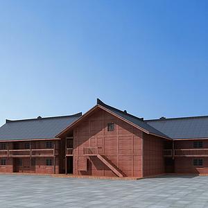 3d生態木屋模型