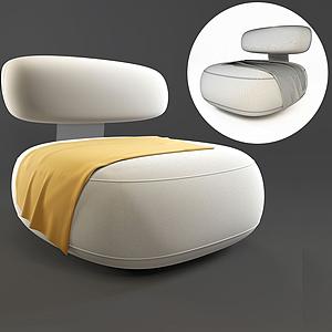 簡歐胖面包椅模型