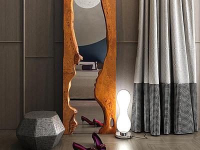 3d現代創意穿衣鏡模型