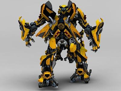 3d變形金剛大黃蜂模型