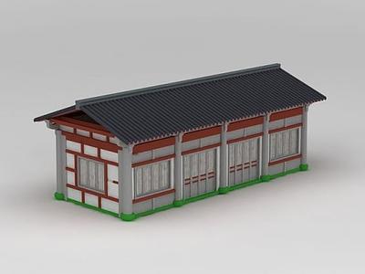 3d古建廂房模型