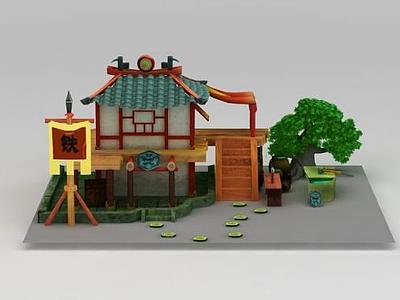 3d鐵匠鋪游戲場景模型