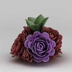 3d仿真花模型