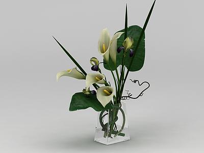 插花花瓶擺件模型3d模型