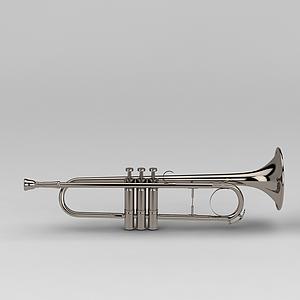 3d乐器小号模型