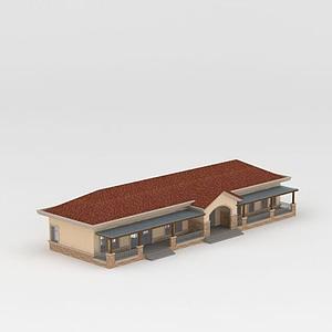 3d現代平房模型