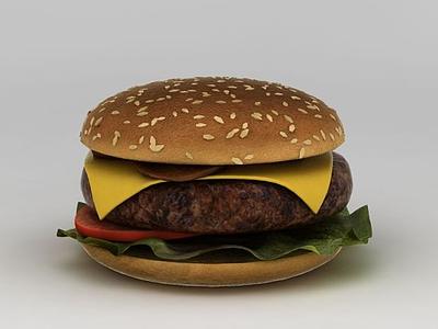 3d漢堡模型