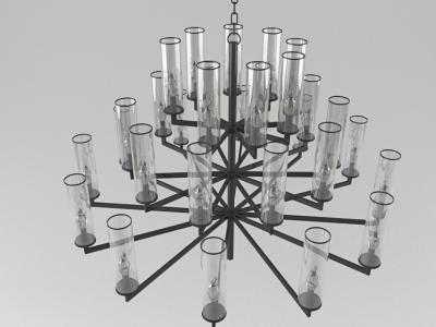 3d現代創意玻璃吊燈模型