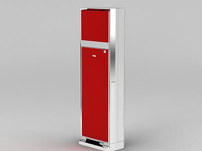 3d<font class='myIsRed'>紅色</font>冰箱模型