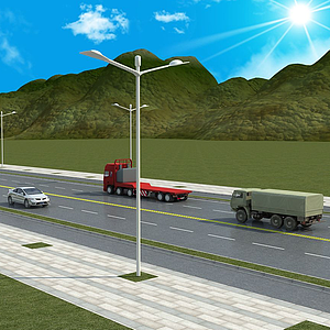 汽车高速公路模型