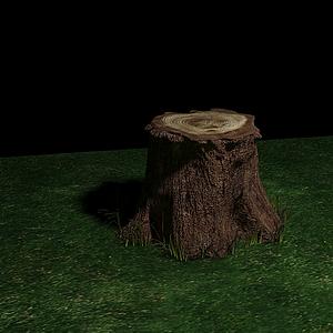 3d<font class='myIsRed'>一個樹樁</font>模型