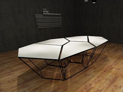 3d創意幾何陳列臺模型