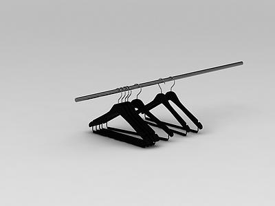 3d黑色塑料衣架免費模型
