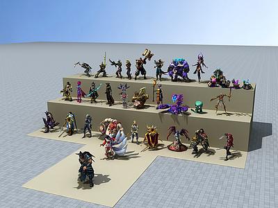 3dLOL游戲人物模型