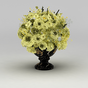 3d仿真花卉裝飾品模型
