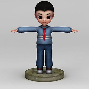 小男孩人物動畫模型