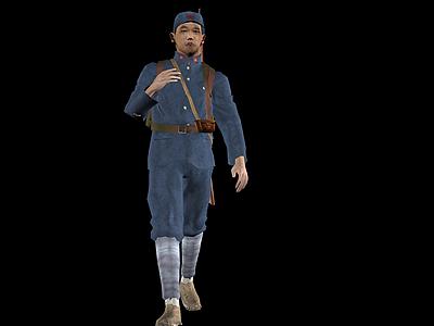 3d紅軍人物模型