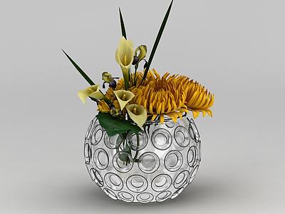 插花花瓶模型3d模型