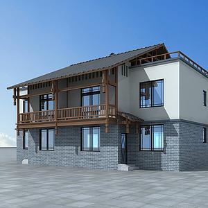 3d民房改造房模型