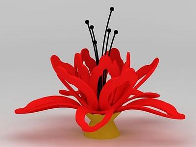 3d木棉<font class='myIsRed'>花</font>雕塑模型