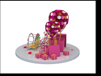 3d精美禮物盒模型