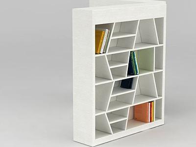3d簡約創意書柜模型