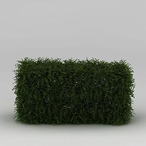 綠化帶灌木模型