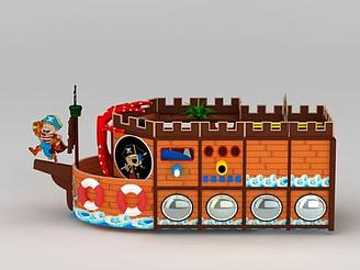 兒童樂園海盜船模型