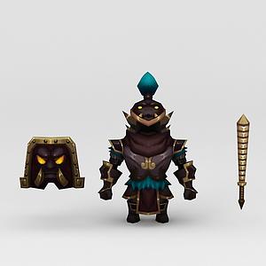 游戲道具盔甲模型
