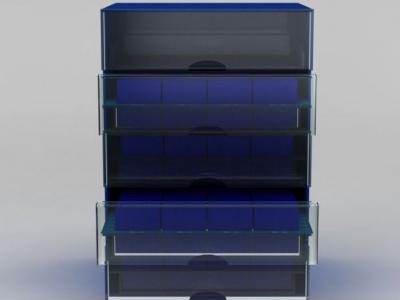 3d塑料儲物柜模型