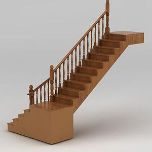 實木轉角樓梯模型