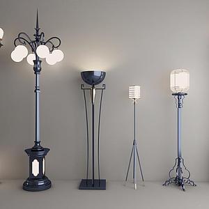 落地燈庭院燈組合模型