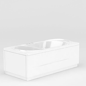 白色精品浴缸模型