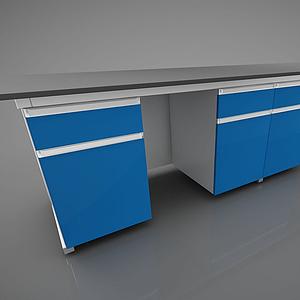 版式家具辦公臺模型