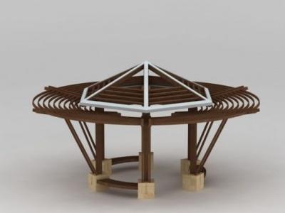3d創意圓亭子模型