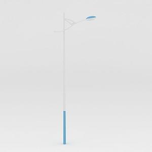 單耳弧形路燈模型
