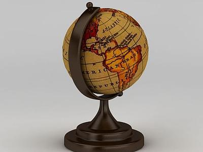 3d復古<font class='myIsRed'>地球</font>儀模型