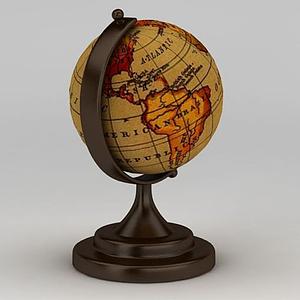 復古地球儀模型