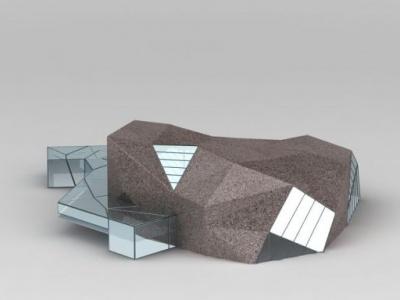 3d黑石鋪建筑模型